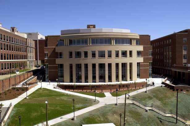 MORGANTOWN, WV - 2011: General view of the Wise Library on the campus of the West Virginia University Mountaineers circa 2011 in Morgantown, West Virginia. (Photo by West Virginia/Collegiate Images/Getty Images)