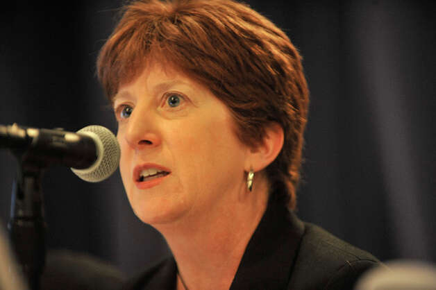 Albany Mayor Kathy Sheehan presents information to the selection panel for the New York State Economic Development grants at the Empire State Plaza Convention Center on Tuesday, Sept. 16, 2014, in Albany, N.Y.     (Paul Buckowski / Times Union) Photo: Paul Buckowski, Albany Times Union / 10028650A