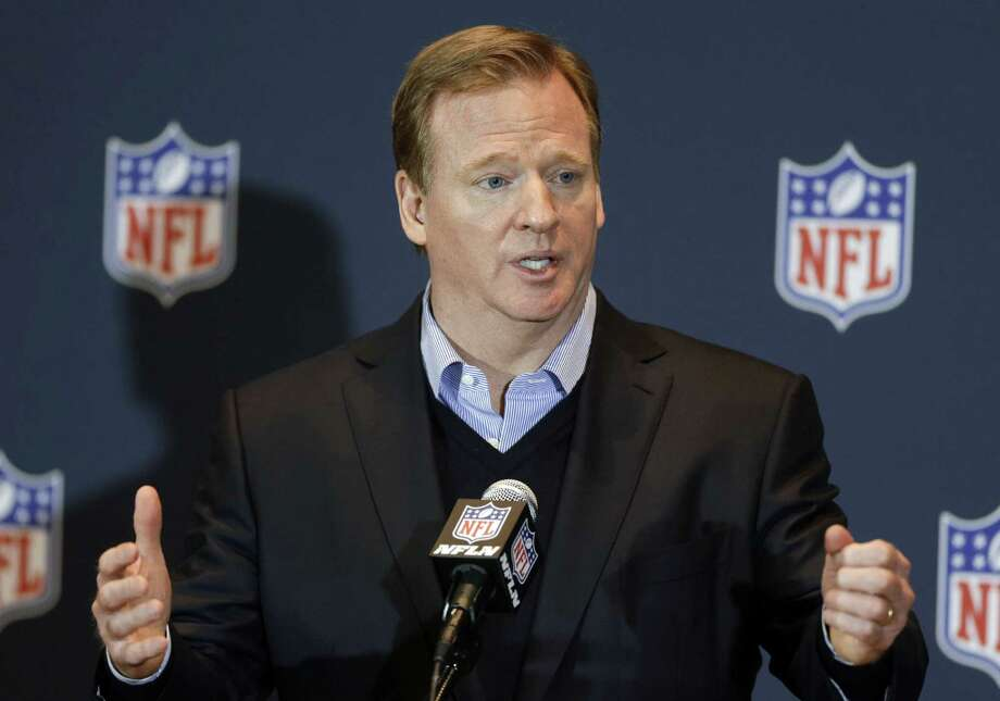 NFL Commish Roger Goodell is beset by player violence and, perhaps, lapses of judgment/integrity. He's no Charles Goodell. Photo: John Raoux / Associated Press / AP