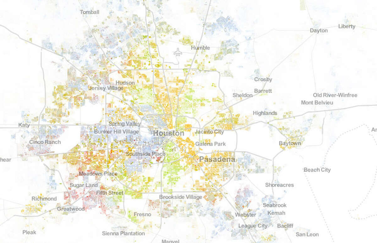 Check out how diverse your neighborhood is using these maps based on answers in the 2010 census.KEY Blue = whiteGreen = blackRed = AsianOrange = HispanicBrown = other/multicultural(Each dot represents one person)