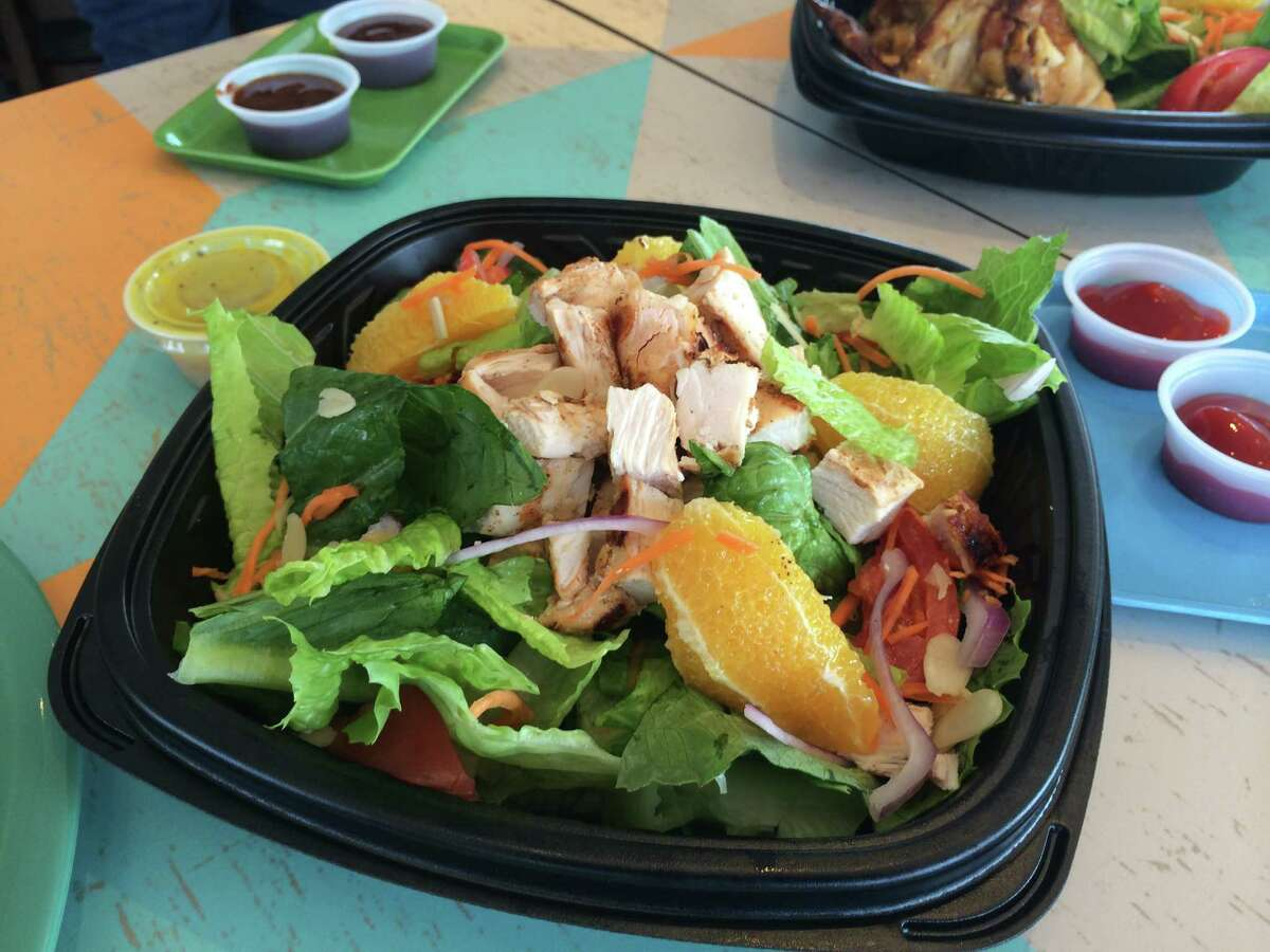 Grilled chicken salad, $6.49. Pollo Tropical, a sister restaurant to Taco Cabana, opens its first Alamo City location on Wednesday on the Northwest Side near Loop 1604.