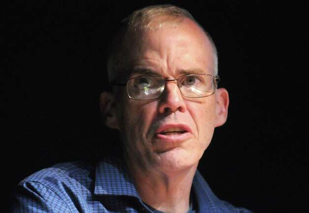 Author and environmentalist Bill McKibben gives a lecture on fossil fuels, climate change and our ability to advocate for positive change Tuesday Sept. 16, 2014, at the University at Albany in Albany, N.Y. McKibben is the founder of 350.org, the first climate change movement, and recently was named by Foreign Policy magazine to their inaugural list of the world?s 100 most important global thinkers. (Michael P. Farrell/Times Union) Photo: Michael P. Farrell / 00028522A
