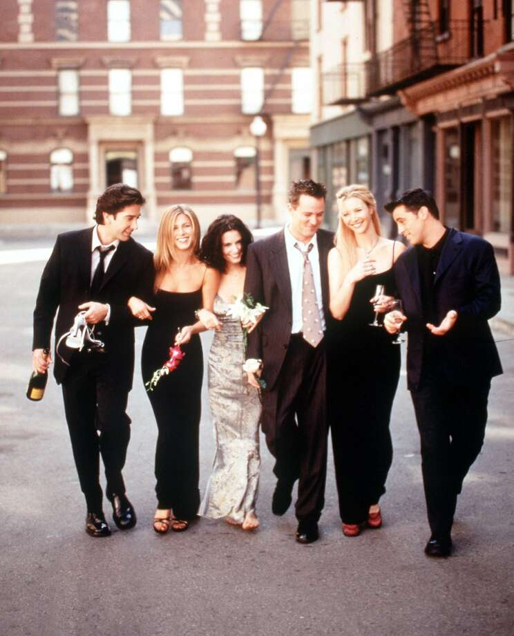"""Friends"" premiered on NBC on Sept. 22, 1994, launching its cast into major stardom.The show ran for 10 seasons, raked in 62 Emmy nominations, saw its stars earning $1 million an episode and, for many years, was ""must-see TV."" Those rich stars, from L-R: David Schwimmer, Jennifer Aniston, Courteney Cox , Matthew Perry, Lisa Kudrow and Matt Leblanc.  Photo: Getty Images"