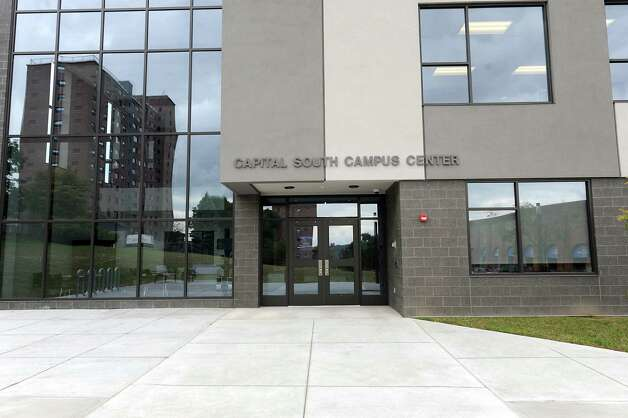 Exterior of the Capital South Campus Center which is run by the Trinity Alliance of the Capital Region on Tuesday, Sept. 16, 2014 in Albany, N.Y. (Lori Van Buren / Times Union) f Photo: Lori Van Buren / 10028649A