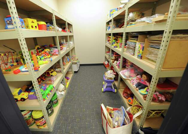 Closet full of toys in the early childhood services office in the Capital South Campus Center which is run by the Trinity Alliance of the Capital Region on Tuesday, Sept. 16, 2014 in Albany, N.Y. (Lori Van Buren / Times Union) f Photo: Lori Van Buren / 10028649A
