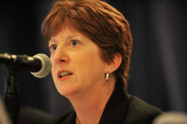 Albany Mayor Kathy Sheehan presents information to the selection panel for the New York State Economic Development grants at the Empire State Plaza Convention Center on Tuesday, Sept. 16, 2014, in Albany, N.Y.     (Paul Buckowski / Times Union) Photo: Paul Buckowski / 10028650A
