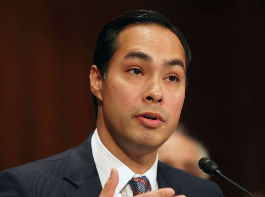 On Tuesday, former San Antonio Mayor Julián Castro made his first major policy speech as secretary of the Department of Housing and Urban Development. Photo: Lauren Victoria Burke, Associated Press / FR132934 AP