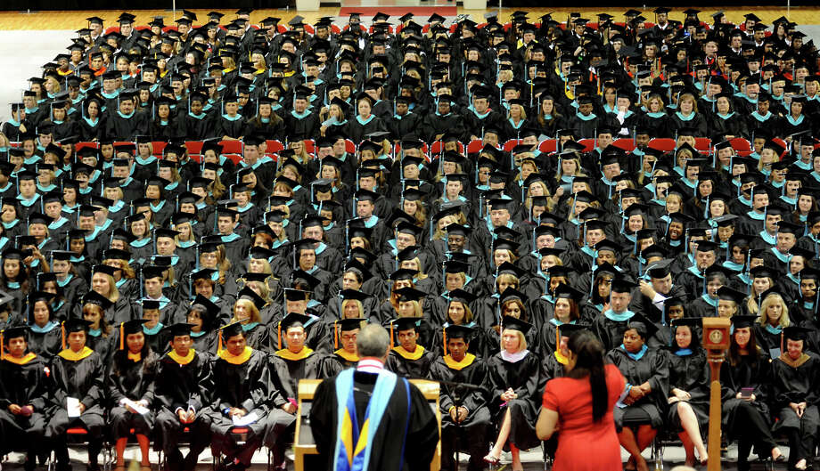 FILE - Lamar University has announced that it will move to two graduation ceremonies starting with the December ceremony.  Enterprise file photo Photo: TAMMY MCKINLEY / Beaumont