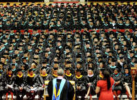 Lamar University has announced that it will move to two graduation ceremonies starting with the December ceremony.  Enterprise file photo