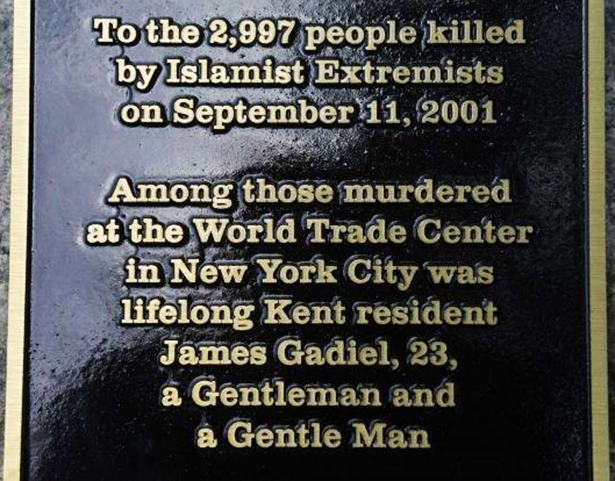 The new 9/11 memorial at Kent Town Hall is dedicated to the 2,977 individuals who lost their lives during the 2001 terrorist attacks on the World Trade Center in New York. Among those who died was 23-year-old Kent resident James Gadiel. September 2014