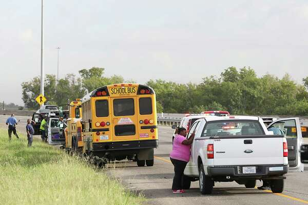 School bus involved in traffic accident on 288