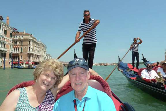 Chronicle reader Susan Cain of Spring submitted this vacation photo of her with her husband taken during a gondola ride in Venice, Italy.