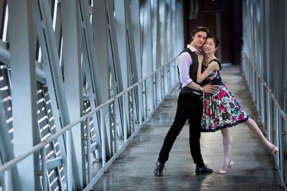 First soloist Yuriko Kajiya and first soloist Jared Matthews arrived from New York City in July to start collaborating with the Houston Ballet. Matthews is a native Houstonian, and Kajiya, a native of Nagoya, Japan. Formerly soloists at the American Ballet Theatre, the couple will collaborate in Houston during the 2014-15 season beginning in August 2014 with the showpiece Paquita. Friday, Sept. 12, 2014, in Houston. ( Marie D. De Jesus / Houston Chronicle )