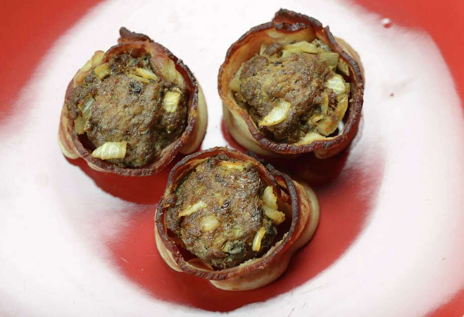 "Laura Ligosa€™ meatloaf muffins Monday, Sept. 15, 2014, at the Times Union in Colonie, N.Y. Laura is a registered dietitian who blogs about nutrition on her website, ""The Sassy Dietitian."" (Will Waldron/Times Union) Photo: WW / 00028600A"