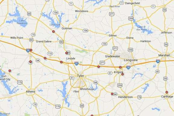 East Texas, Haynesville shale play  46 killed, 28 injured In 13 triple fatality accidents  Five involved CMV Overall 332 fatalities 2010-2014 635 miles long