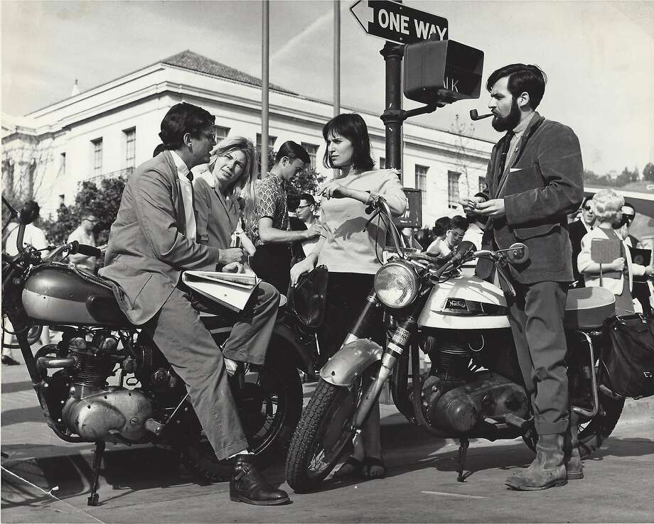 "Activist Kate Coleman (center) in the 1964 CBS News documentary ""The Berkeley Rebels,"" about the movement. Photo: CBS News, Kate Coleman"