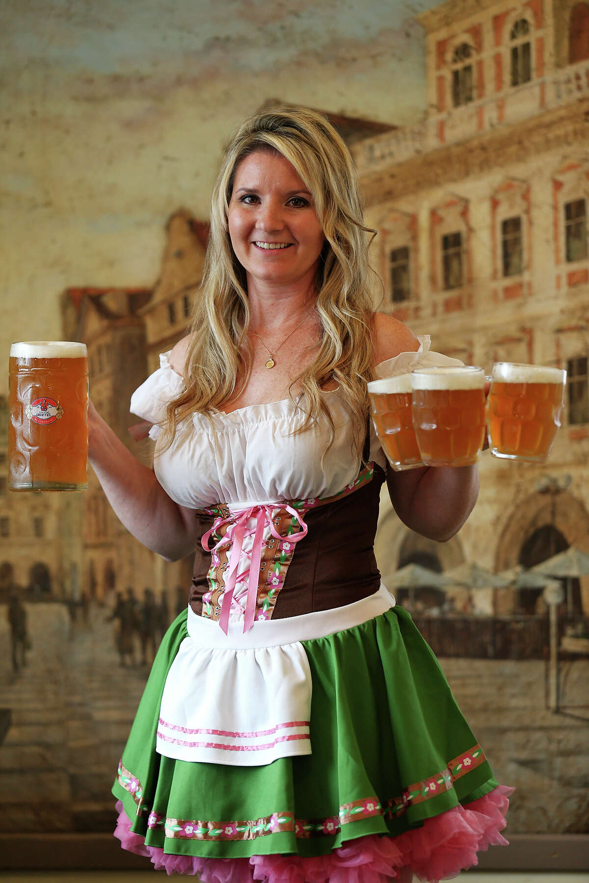 Portrait of Little Gretel manager Veronica Mazal Brown with beer at the restaurant Saturday Sept. 13, 2014 in Boerne, Tx.