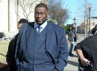 Indicted from the FBI's recent investigation into BISD, Devin McCraney, pictured, and former comptroller Sharika Allison, not pictured, plead innocent Thursday morning in Zack Hawthorn's federal courtroom. The trial is set for early next month. Photo taken Thursday,  Guiseppe Barranco/@spotnewsshooter