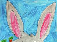 """Our Cartoonist of the Week is 9-year-old Peter Kilgallen, who attends New Lebanon School.  Peter likes to draw a lot of cartoon characters, but his favorite is Bugs Bunny.  Instructor Phil Lohmeyer chose Peter's drawing of Bugs because he captured a great facial expression and created a vivid, layered background with colored pencils.  Peter tells other young artists, """"Try to blend your colors together when cartooning!""""  Besides cartooning, Peter likes learning about the artwork of Pablo Picasso. Peter took part in a recent workshop at Byram Schubert Library entitled """"Cartoons in Color,"""" which was free to all participants.  The program is run by Lohmeyer (philliplohmeyer@yahoo.com), an artist from Cos Cob who teaches group lessons at the Eastern Greenwich Civic Center (203-637-4583) and private lessons at Jack Dog Studio on Greenwich Avenue (203-570-6870)."""