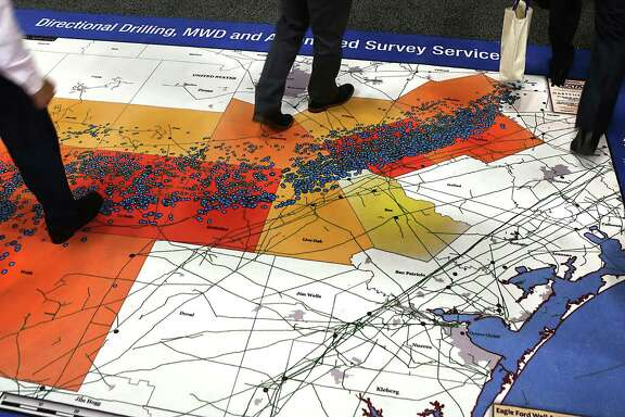 Workers from the oil and gas industry find it doesn't take long to walk across the Eagle Ford Shale, at least when it's reduced to map size. Hart Energy's DUG Eagle Ford Conference in San Antonio wrapped up Wednesday.