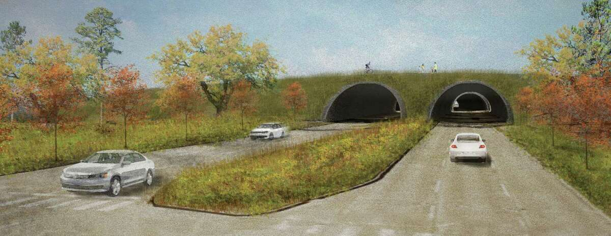Underneath the proposed 800-foot long land bridge, Memorial Drive could traverse a tunnel. The idea is to lessen the impact of traffic on the park.