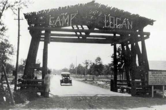 Camp Logan was a U.S. Army camp situated on land that now is Memorial Park.  Its history will be honored in the park, which is named in honor of the soldiers.