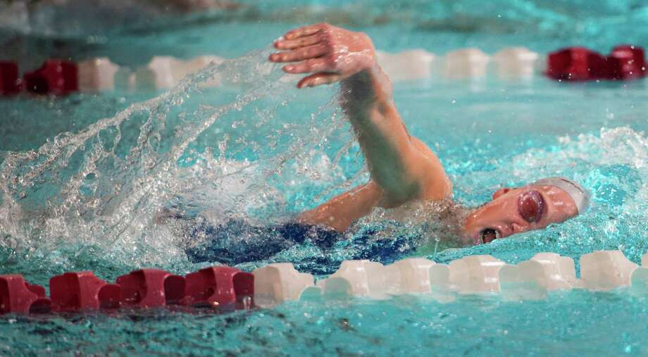Fairfield Ludlowe's Ingrid Duffy won the 200-yard and 500-yard freestyle races against St. Joseph to help the Falcons to their first win of the season. Photo: Mark Conrad / Connecticut Post Freelance