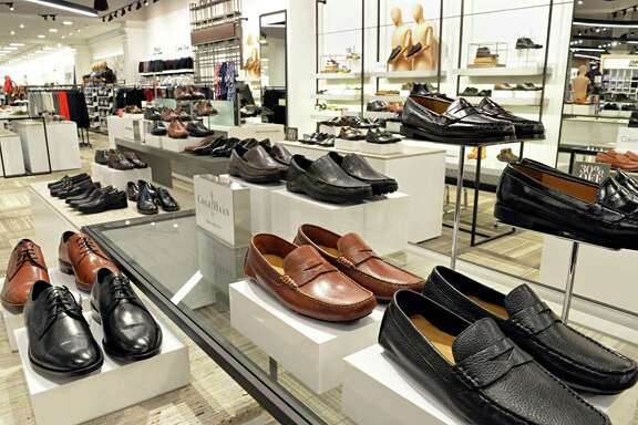 Men's shoes at the new Lord & Taylor store in Crossgates Mall Wednesday Sept. 17, 2014, in Guilderland, NY. (John Carl D'Annibale / Times Union)