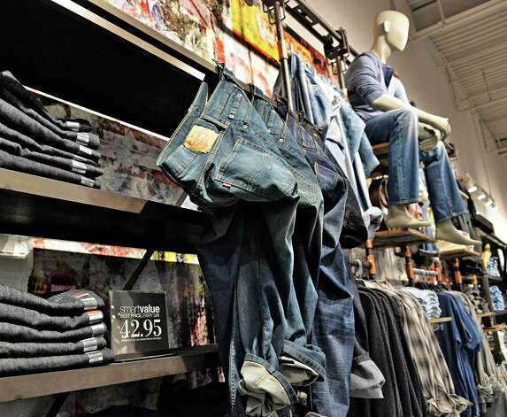 Jeans in the men's department at the new Lord & Taylor store in Crossgates Mall Wednesday Sept. 17, 2014, in Guilderland, NY. (John Carl D'Annibale / Times Union) Photo: John Carl D'Annibale / 00028490A