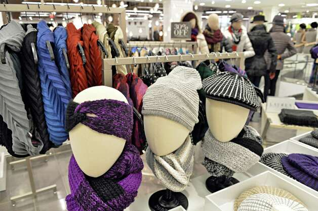 Women's hats and scarfs in the active wear department at the new Lord & Taylor store in Crossgates Mall Wednesday Sept. 17, 2014, in Guilderland, NY. (John Carl D'Annibale / Times Union) Photo: John Carl D'Annibale / 00028490A