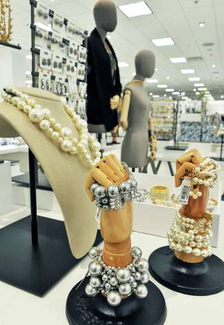 A jewelry display at the new Lord & Taylor store in Crossgates Mall Wednesday Sept. 17, 2014, in Guilderland, NY. (John Carl D'Annibale / Times Union) Photo: John Carl D'Annibale / 00028490A