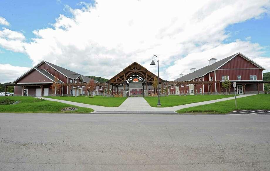 Exterior of SUNY Cobleskill's new, apartment-style housing complex, Alumni Commons on Wednesday, Sept. 17, 2014 in Cobleskill, N.Y. (Lori Van Buren / Times Union) Photo: Lori Van Buren / 10028653A