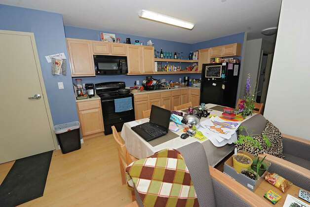 Interior of a student suite in SUNY Cobleskill's new, apartment-style housing complex, Alumni Commons on Wednesday, Sept. 17, 2014 in Cobleskill, N.Y. In this suite there are flour bedrooms and two bathrooms. (Lori Van Buren / Times Union) Photo: Lori Van Buren / 10028653A