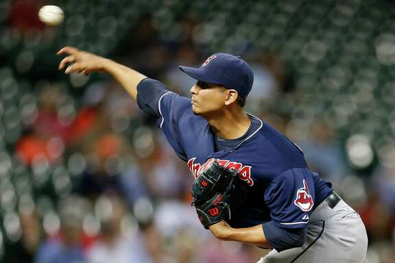Astros players other than Jose Altuve went 0-for-25 against Indians starer Carlos Carrasco on Wednesday night.