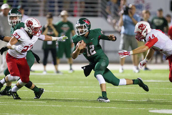 Woodlands quarterback Matt Bonaguidi showed a dual-threat ability to pass and run in the 24-7 win over Katy.
