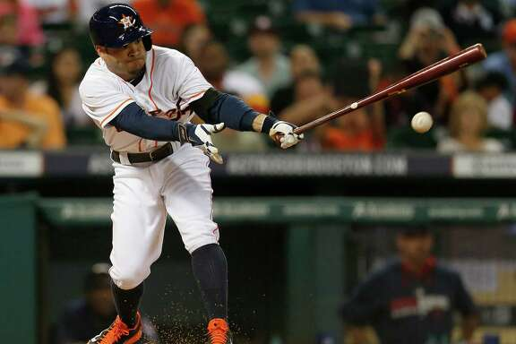 The Astros' Jose Altuve on Wednesday night picked up where he left off Tuesday when he broke Craig Biggio's club record for hits in a season, getting a hit in the fourth inning for his 212th. He also singled in the ninth for the only hits off Cleveland's Carlos Carrasco, who went the distance.