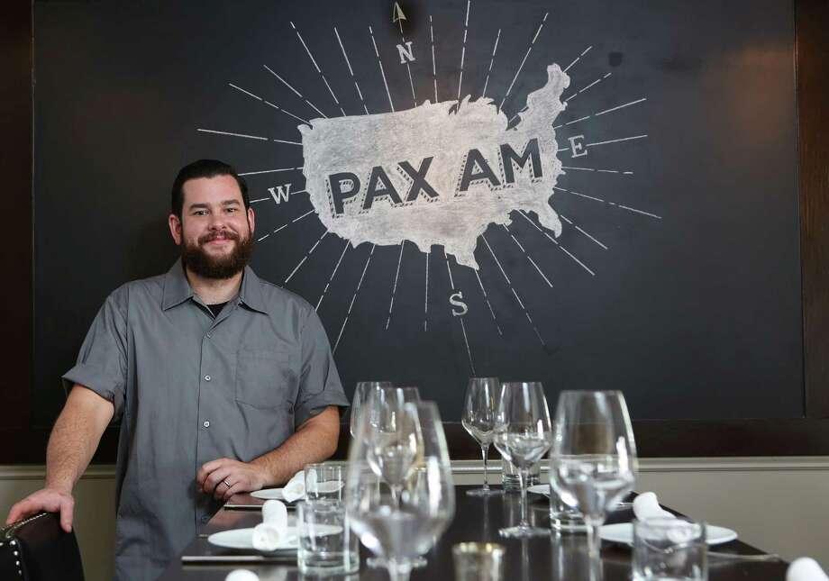 Executive Chef Adam Dorris and Pastry Chef Plinio Sandalio, at Pax Americana Restaurant on Thursday