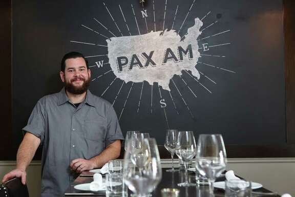 Executive Chef Adam Dorris and Pastry Chef Plinio Sandalio, at Pax Americana Restaurant on Thursday, Sept. 4, 2014, in Houston. ( Mayra Beltran / Houston Chronicle )