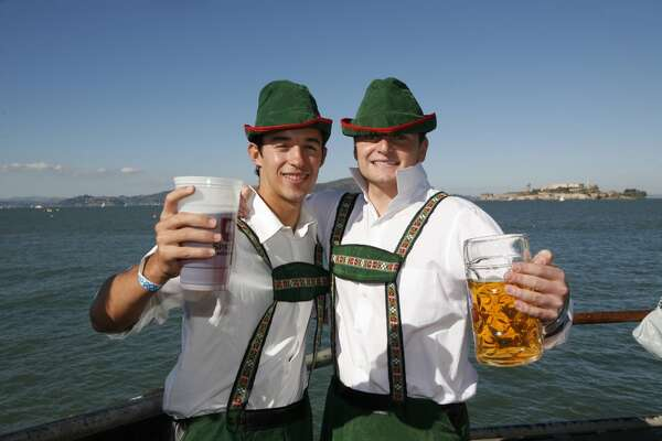 The spirit of Munich descends on S.F.'s Pier 48 this weekend, with three days of music, singing, dancing, beer & brats at  Oktoberfest by the Bay . The event has four sessions: Friday night, Saturday day, Saturday night and Sunday. Tickets ($25-$75) covers admission and entertainment only; it costs extra for food and drinks. Also, children are only allowed Saturday during the day and Sunday, not Friday or Saturday night.