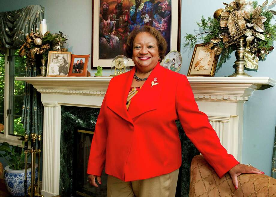 Juanita James, CEO of the Fairfield County's Community Foundation, poses for a photo in her Stamford, Conn., home on Thursday, September 18, 2014. Photo: Lindsay Perry / Stamford Advocate