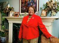 Juanita James, CEO of the Fairfield County's Community Foundation, poses for a photo in her Stamford, Conn., home on Thursday, September 18, 2014.