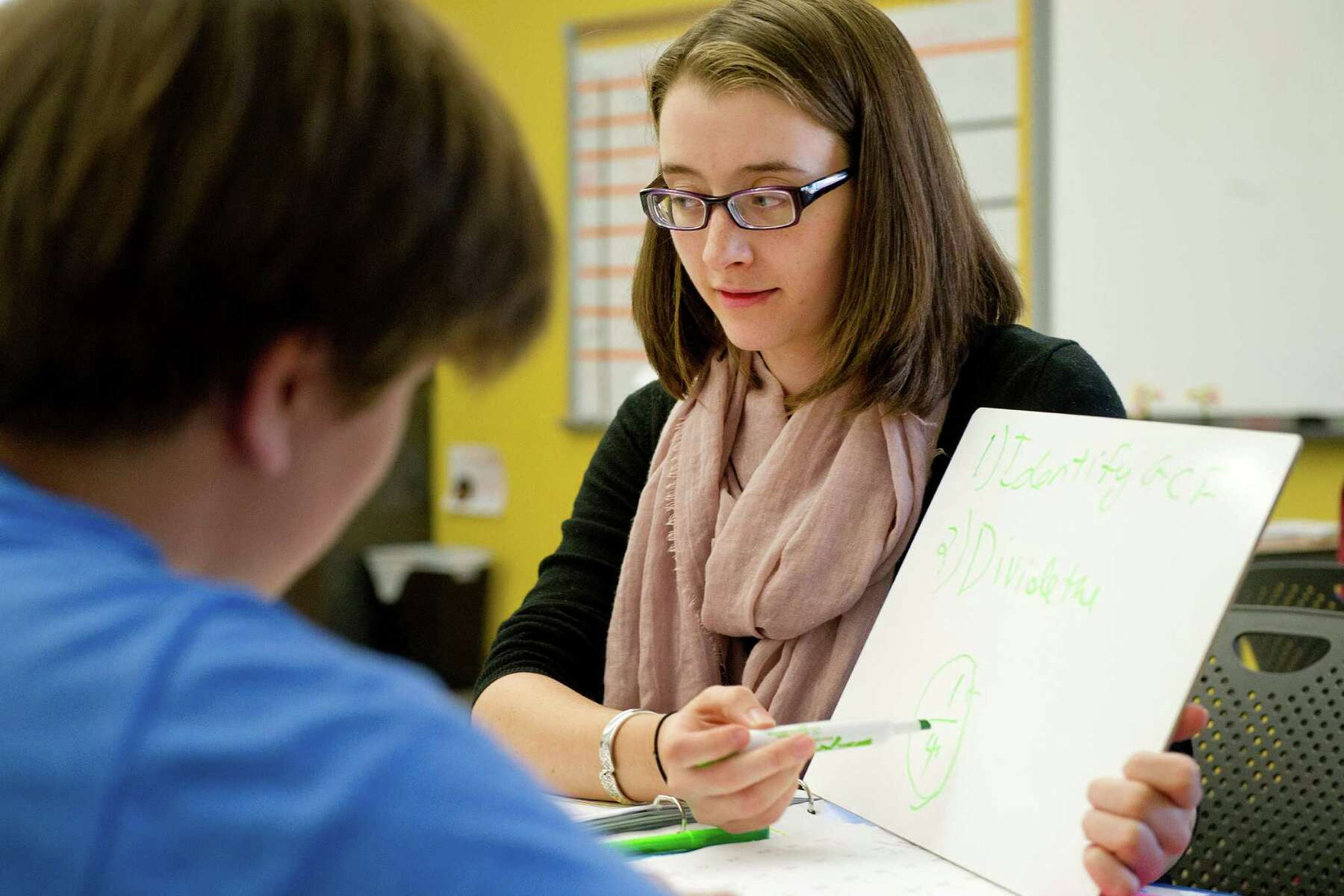 Teacher Shows Brunette Student How It's Done