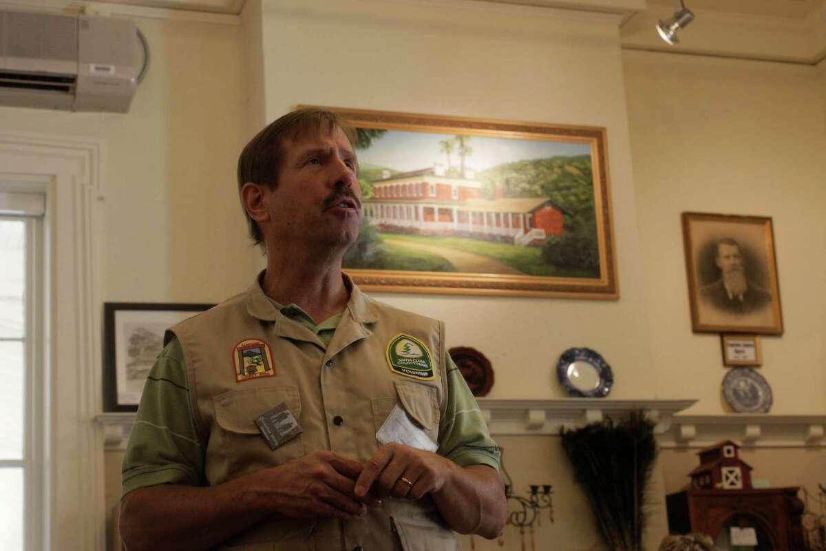 Helpful docents like Tobin Gilman lead you through exhibits about mercury mining at the New Almaden Quicksilver Mining Museum.