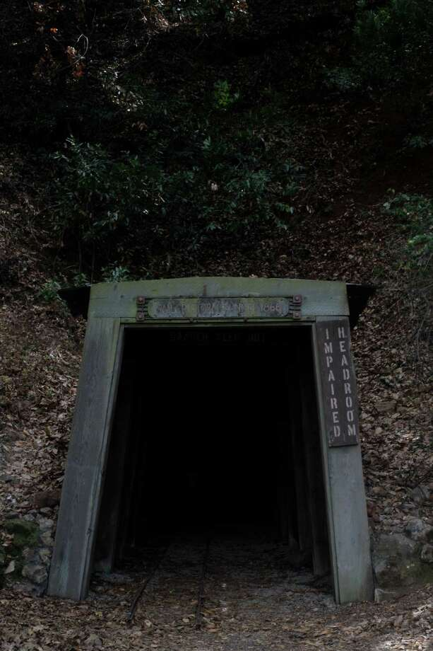 "The most popular ""attraction"" on the Historic Trail is the San Cristobal Mine, where you can walk several hundred feet into the spooky tunnel before the mine is sealed off by a gate. Photo: Daniel E. Porter, Intern / The Chronicle / ONLINE_YES"
