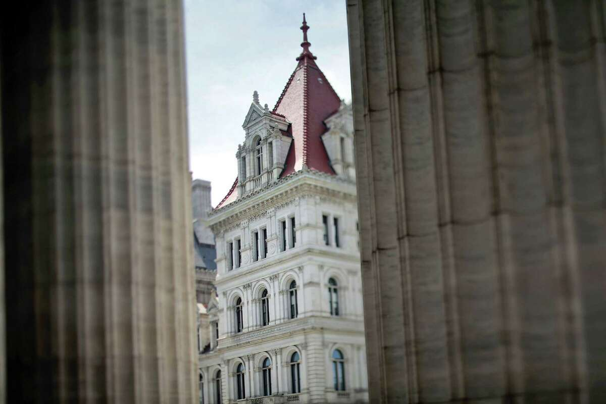 The New York State Capitol Considered Albany's best-known spirit-occupied site, the Capitol houses at least three ghosts, according to Paula Lemire's local history site, AlbanyNYHistory.blogspot.com. One ghost is William Morris Hunt, an artist who was commissioned to paint murals in the Senate Chamber. But his work was lost when the building needed construction. He was so distressed that he drowned himself in 1879 and now some say you can sometimes hear