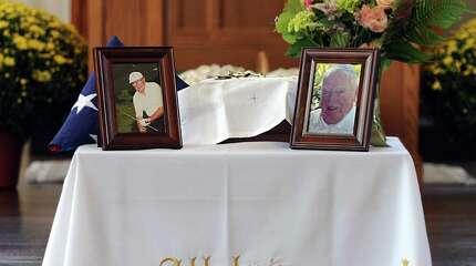 Funeral service for Paul Baker held at St. Teresa of Avila Church in Woodbury, Conn., Thursday, Sept. 18, 2014.