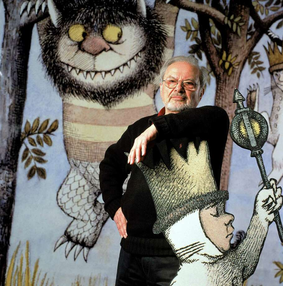 "Author/illustrator Maurice Sendak standing by an life-size scene from his book ""Where the Wild Things Are,"" at the Children's Museum of Manhattan which is honoring his 50 years of work with an exhibit. Sendak's estate has exercised an option to reclaim some 10,000 drawings from a museum in Philadelphia, to eventually build a museum in Ridgefield, Conn. Photo: James Keyser, James Keyser/The LIFE Images Col / James Keyser  (Photo by James Keyser/The LIFE Images Collection/Getty Images) Getty Images"