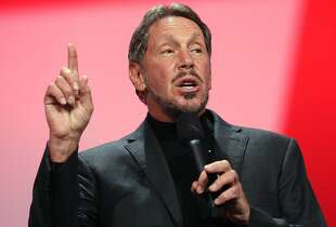 FILE - SEPTEMBER 18:  According to reports September 18, 2014, Larry Ellison, the CEO and co-founder of Oracle, is stepping down immediately. He will be replaced by will be replaced by Mark Hurd and Safra Catz. SAN FRANCISCO, CA - SEPTEMBER 30:  Oracle CEO Larry Ellison delivers a keynote address during the 2012 Oracle Open World conference on September 30, 2012 in San Francisco, California. Ellison kicked off the week-long Oracle Open World conference that runs through October 4.  (Photo by Justin Sullivan/Getty Images)