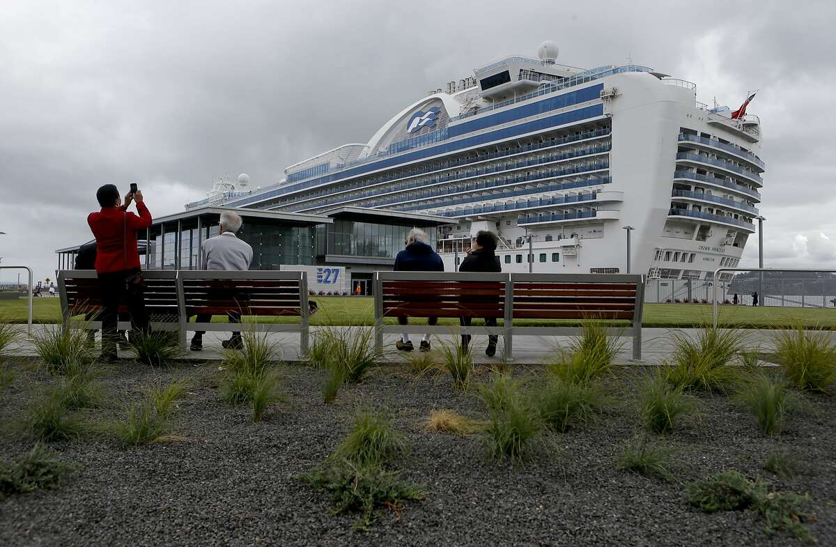 The newly completed Port of San Francisco's James R. Herman Cruise Terminal has their first cruise ship the Crown Princess, which is docked alongside Pier 27 in San Francisco , Calif., on Thursday Sept. 18, 2014.
