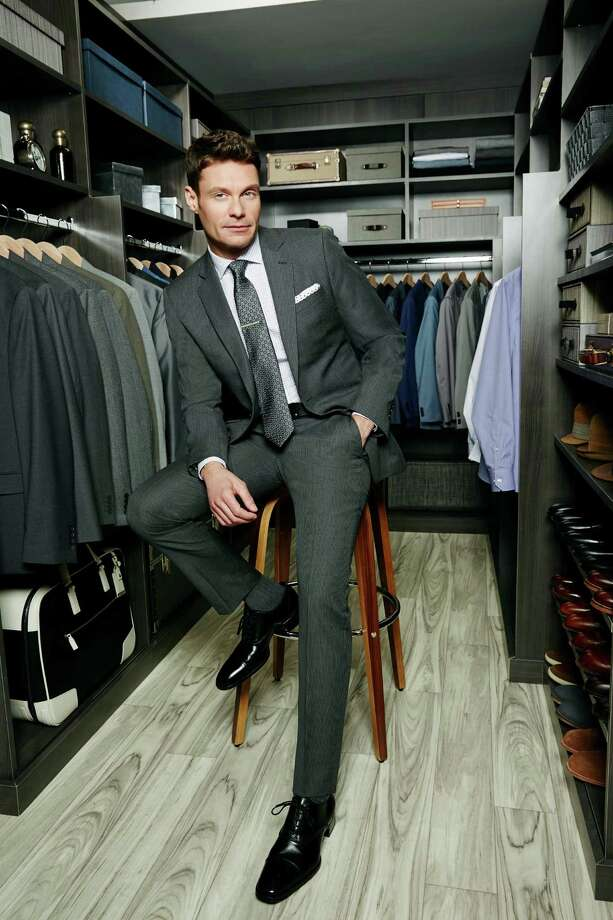 The Ryan Seacrest Distinction collection at Macy's retails $69.50 for a shirt, $150 for pants, $400 for a jacket, $59.50 for neckwear, and $29.50 to $59.50 for accessories. The photo features Seacrest. Photo: Macy's / ONLINE_YES